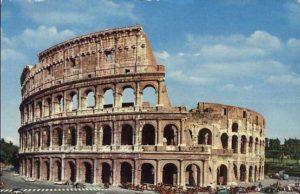 Koloseum w rzymie zawiera wiele sztucznego kamienia