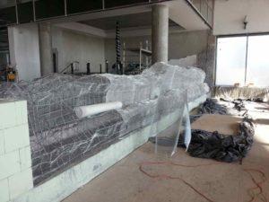konstrukcja nośna sztucznych skał z siatki stalowej